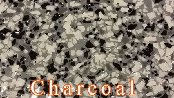 Charcoal Fog Epoxy Flake system