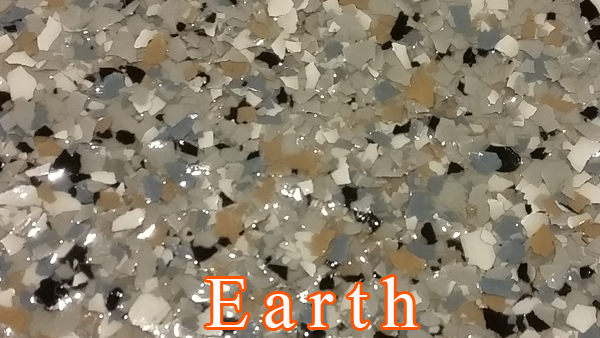 Earth Epoxy Flake system