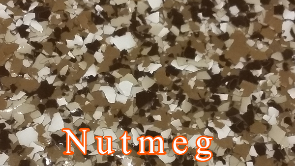 Nutmeg Epoxy Flake system