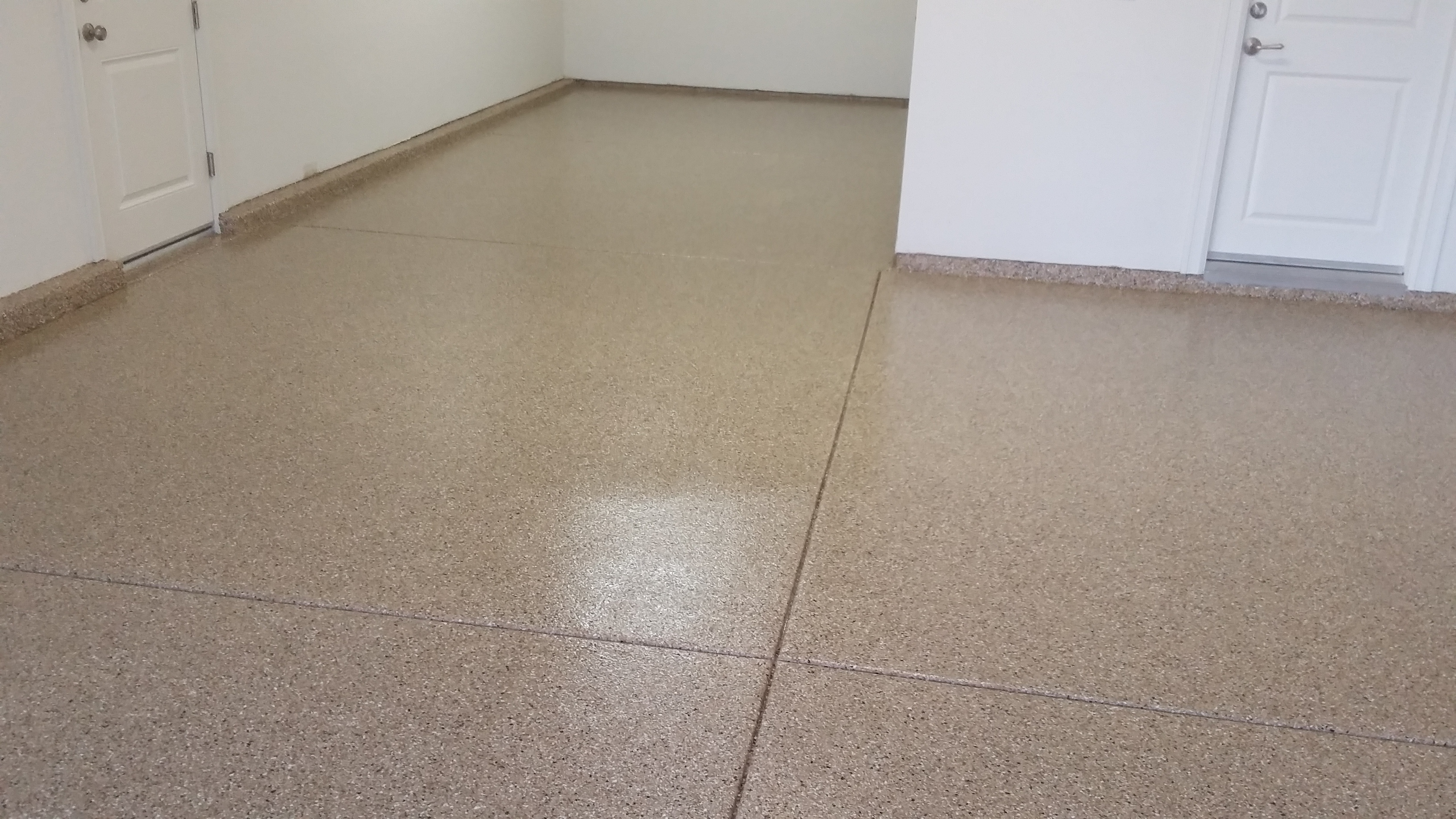 Expresso Flake garage floor system ca-resurfacing.com
